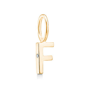 Yellow Gold F Charm