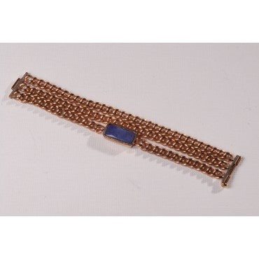 Hand Woven Tanzanite Diamond Bracelet