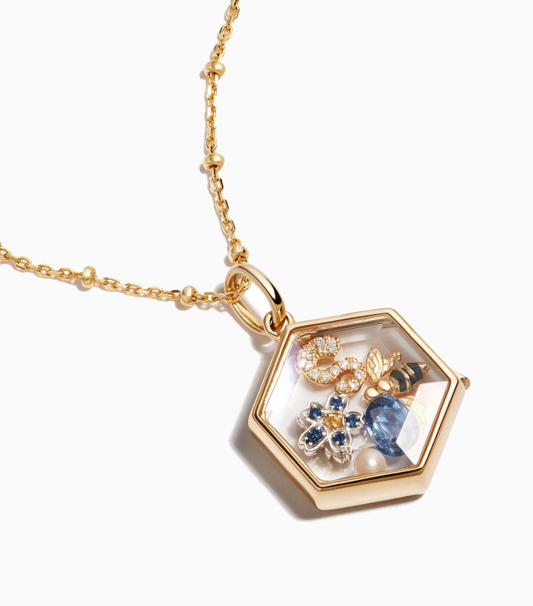 The Hexagon Gold Locket