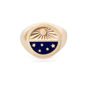 The Lapis Blue Universe Signet Ring