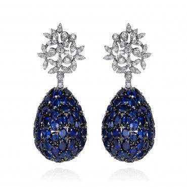 Lucious Sapphires Earrings
