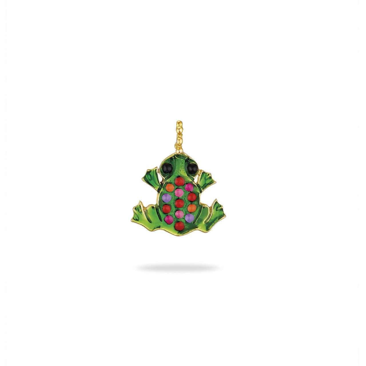 The Large Lacquered Frog Symbol of Life Pendant