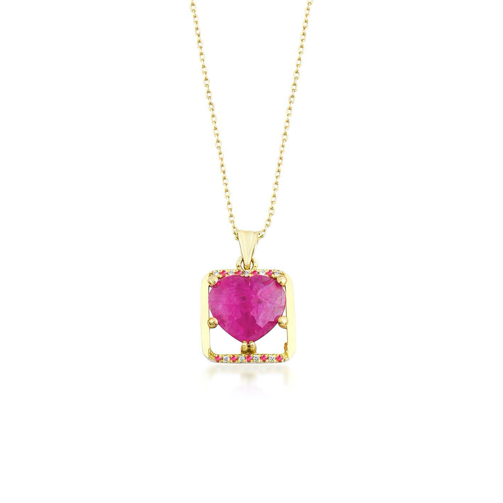 Lily Heart Necklace