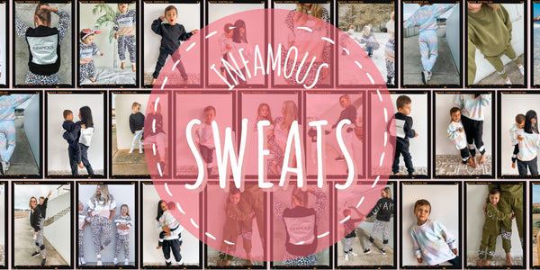 Infamous sweats are here! Our range of mix and match sweatshirts and track pants are here to upgrade your look.