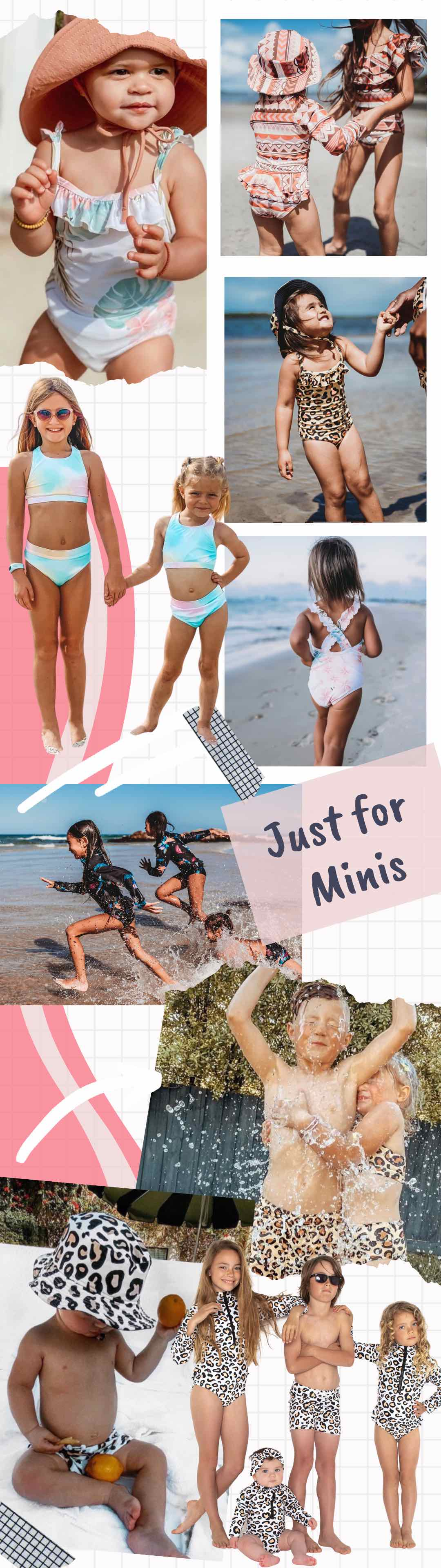Shop our famous mini me range of swimwear