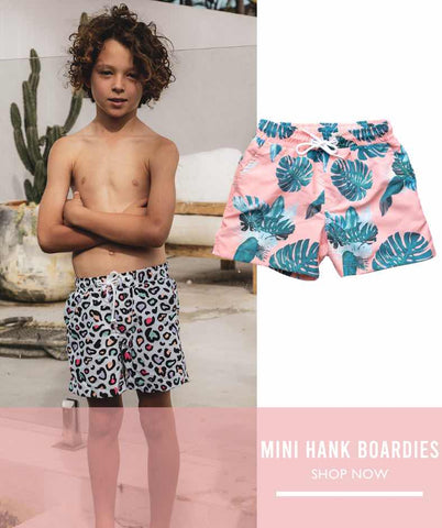 kids board shorts and boardies match with the whole family