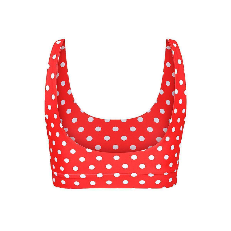 GIA Top // Red Polka Dot