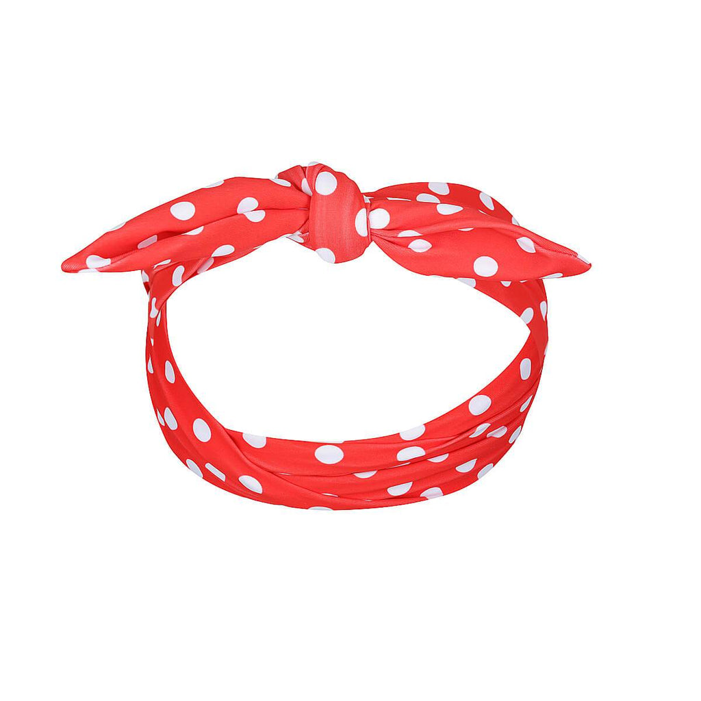 MINI CARMEN Head Band // Red Polka Dot