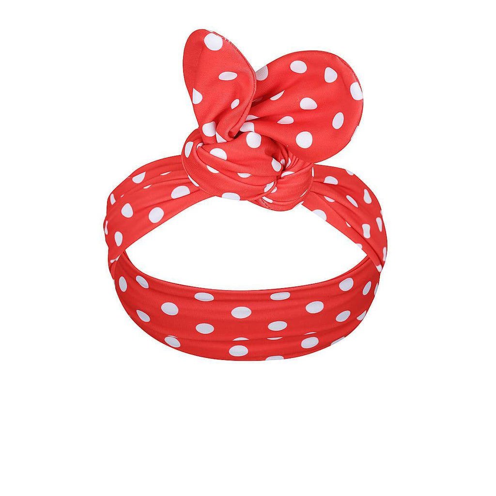 CARMEN Head Band // Red Polka Dot