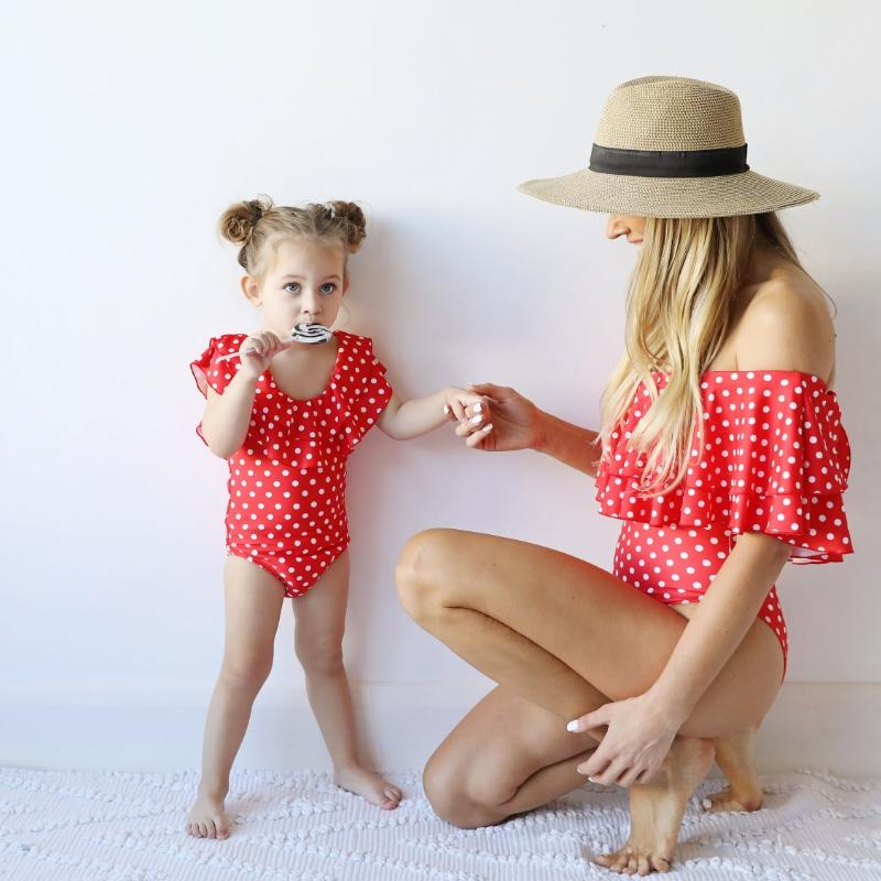 MINI ME MIRANDA One Piece // Red Polka Dot