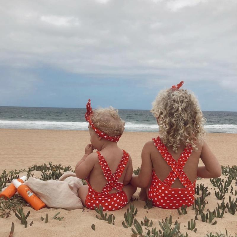 MINI ME CANDICE One Piece // Red Polka Dot