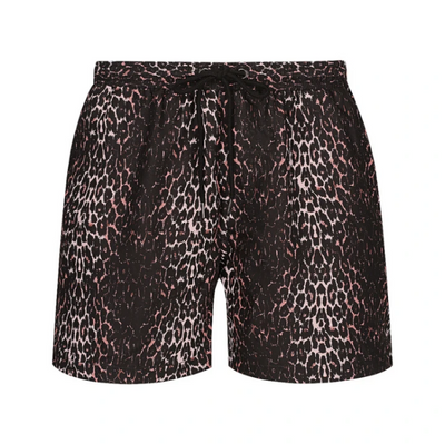 mens hank board shorts in not so mumsy dusty pink kitty leopard print