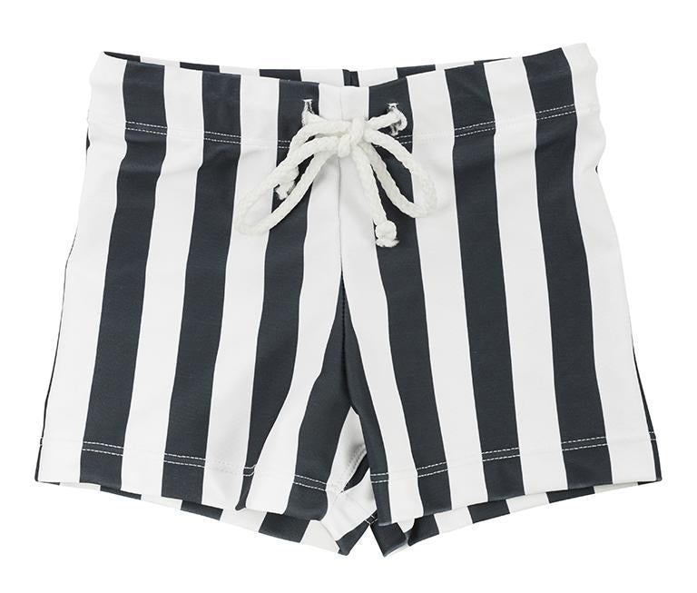 MINI BOYS HUGH Trunks // Monochrome Stripe