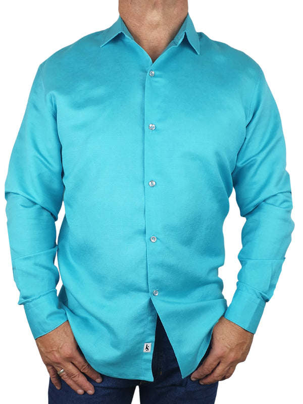 Byron Bay Aqua Long Sleeve Big Mens Shirt