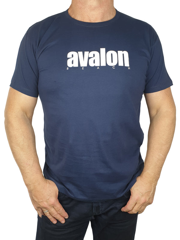 Avalon Navy Printed T-Shirt