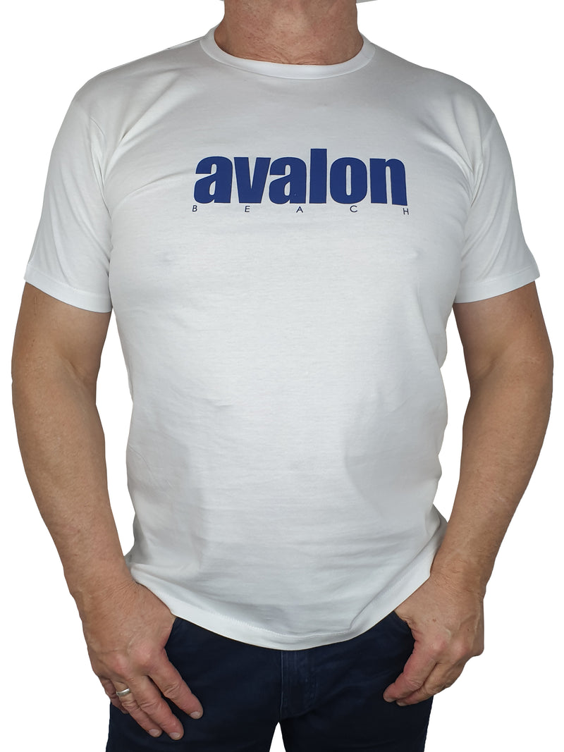 Avalon White Printed T-Shirt
