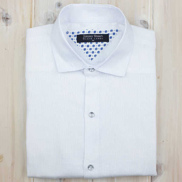 Byron Bay White Long Sleeve Shirt