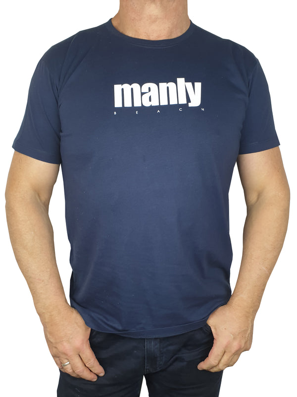 Manly Navy Printed T-Shirt