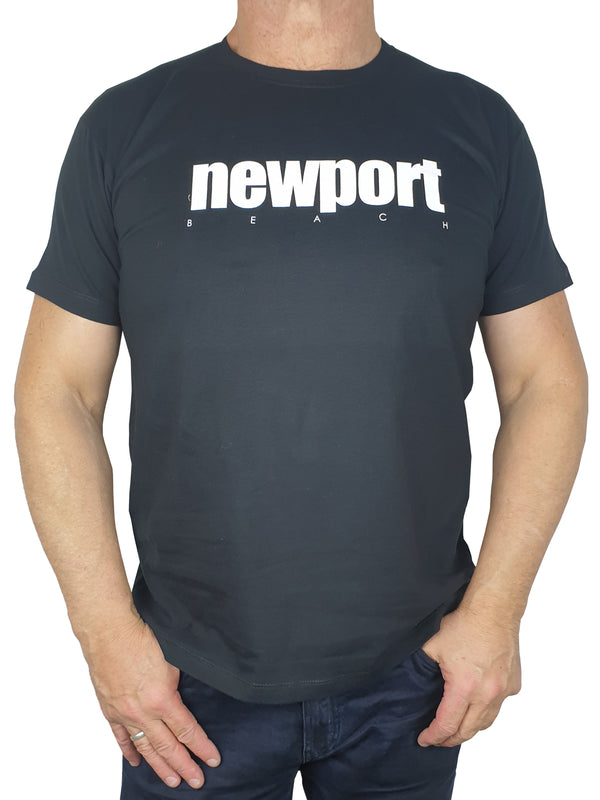 Newport Black Printed T-Shirt