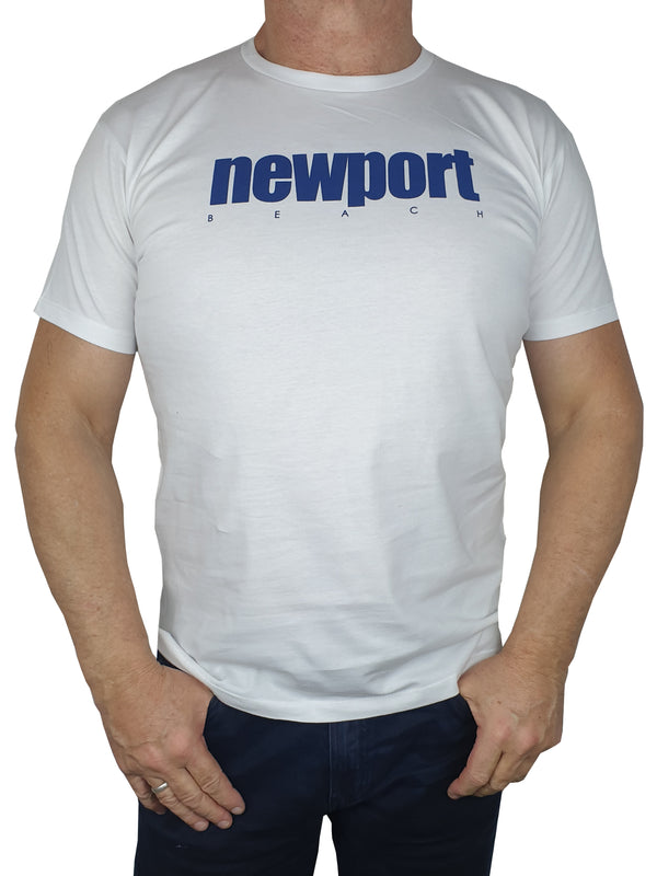 Newport White Printed T-Shirt