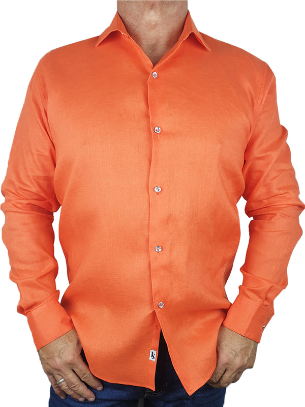 Byron Bay Orange Long Sleeve Big Mens Shirt