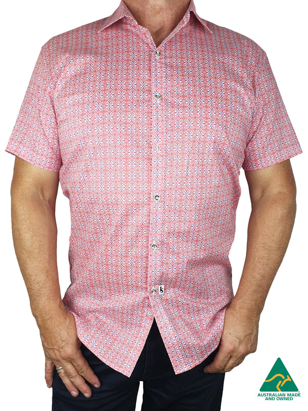Pebble Short Sleeve Big Mens Shirt