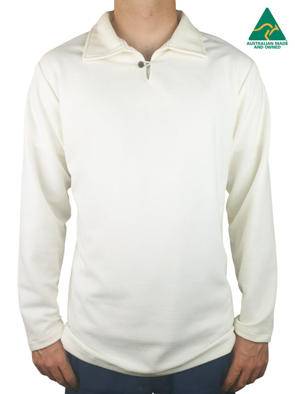 Fraser Cream Long Sleeve Polo