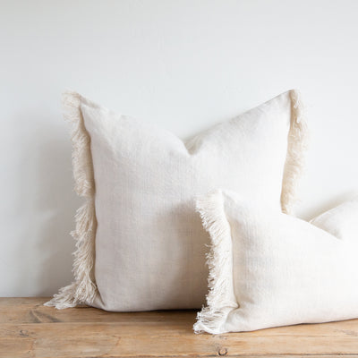 SUNBLEACHED BELGIAN LINEN FRINGE - Sugar Feather