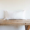 WHITE BELGIAN LINEN FRINGE 16x32 - Sugar Feather