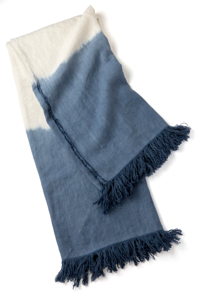DIP DYED THROW - Sugar Feather