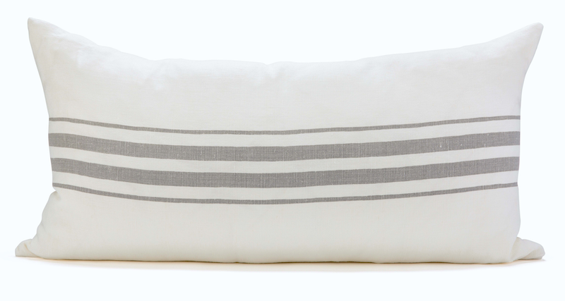 FRENCHIE STRIPE LIGHT (lumbar) - Sugar Feather