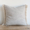 GRAY BELGIAN LINEN FRINGE (Euro) - Sugar Feather