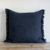 DENIM BLUE BELGIAN LINEN FRINGE (Euro) - Sugar Feather