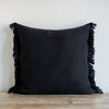 CHARCOAL BELGIAN LINEN FRINGE (Euro) - Sugar Feather