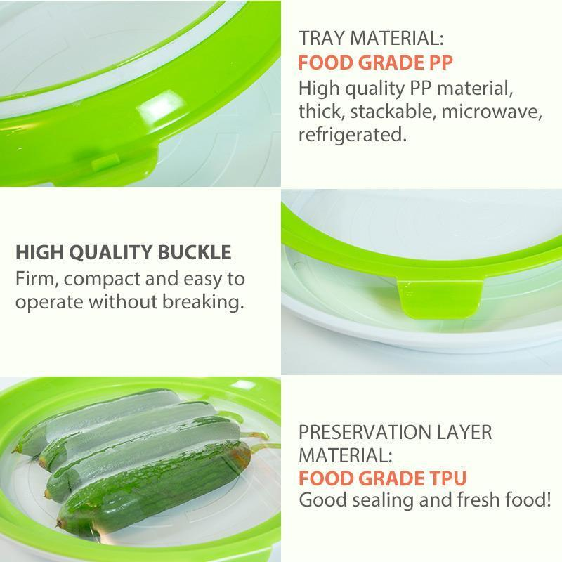 Round Creative Food Preservation Tray