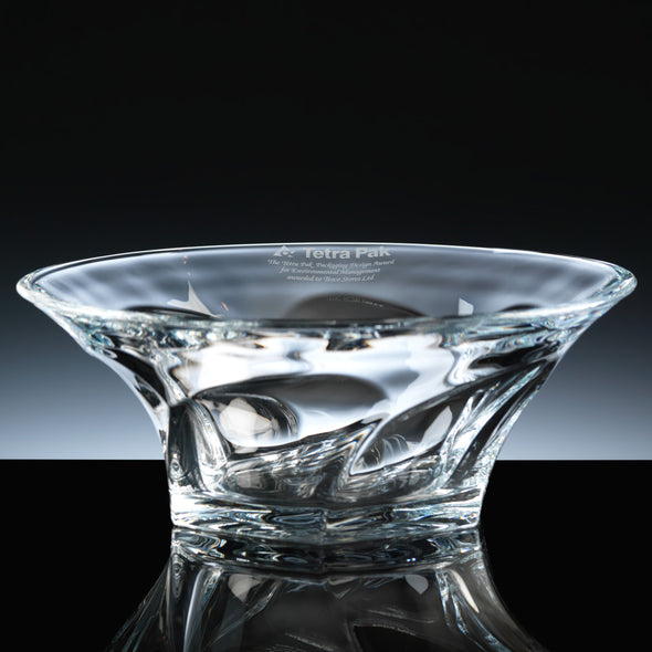"Bohemia Crystal Engraved 11"" Apollo Fruit Bowl, Blue Box"