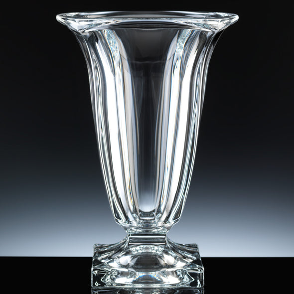 "Bohemia Crystal 11.5"" Magma Vase, Blue Box"