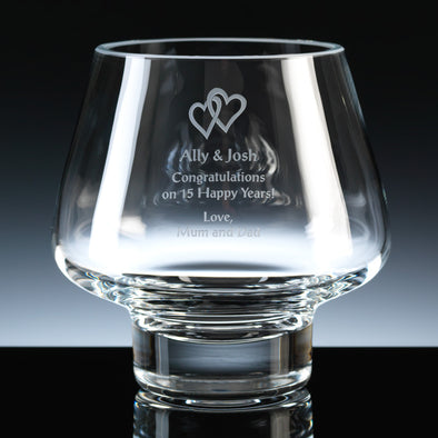 "Balmoral Glass Engraved 6"" Trophy Bowl, Blue Card Box"