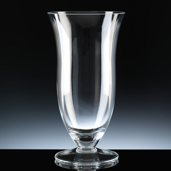 "Balmoral Glass 10"" Footed Tulip Vase, Satin Box"