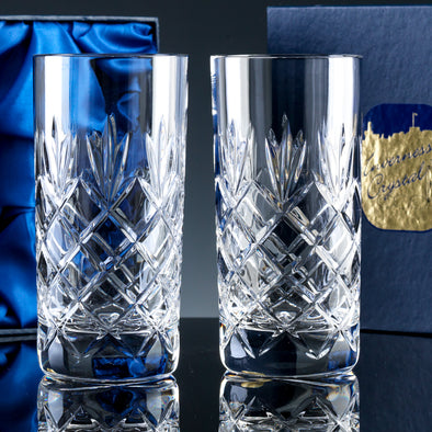 Inverness Crystal Traditional - Fully Cut - 12oz Hiball, 2 per Satin Box (not suitable for engraving)