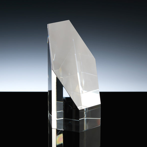 "Whitefire Optical Crystal 5"" Elgin Column Award"
