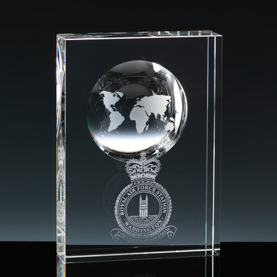 Whitefire Optical Crystal Fantasy Globe In Tablet Without Colour