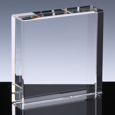 Whitefire Optical Crystal 60x60x18mm Square Block