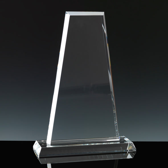 "Whitefire Optical Crystal 12"" Glen Coe - Flat Glass Award"