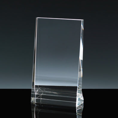 "Whitefire Optical Crystal 3"" X 5"" Portrait Tablet - Flat Glass Award"