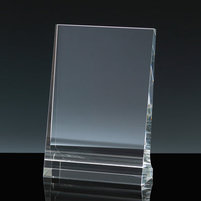 "Whitefire Optical Crystal 4"" X 6"" Portrait Tablet - Flat Glass Award"