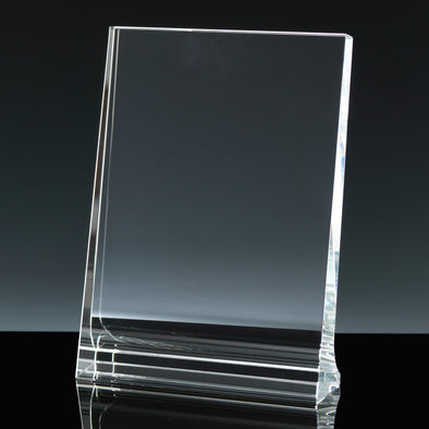 "Whitefire Optical Crystal 5"" X 7"" Portrait Tablet - Flat Glass Award"