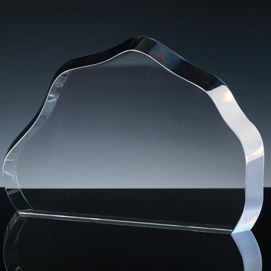 "Whitefire Optical Crystal 12"" X 8"" Mountain Tablet - Flat Glass Award"