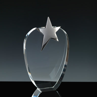 "Fusion Crystal 6"" Opal Star Award"