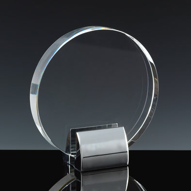 "Fusion Crystal 5.5"" Circle with Chrome Base"